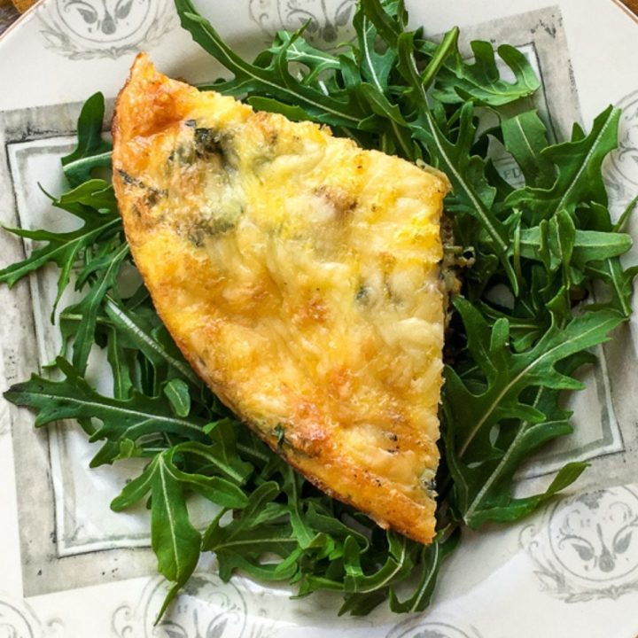 A Baked Sweet Potato Frittata is the perfect breakfast or brunch option for families! Make ahead of time and your family will thank you!