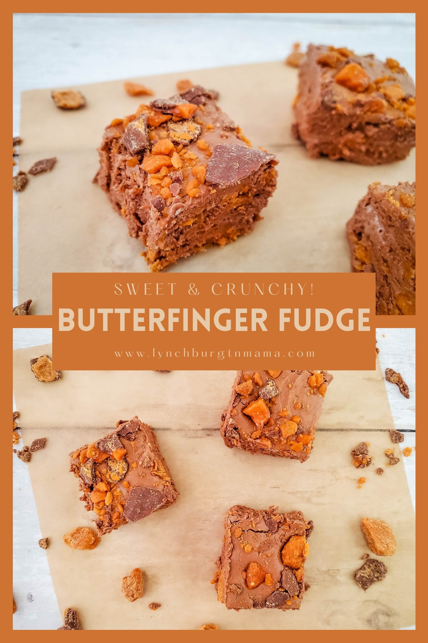 Nobody better lay a finger on my Butterfinger Fudge! This recipe offers a sweet crunch that delicately melts in your mouth with each bite. These little bites of sweetness are perfect for snacks, parties, holidays, and more. Give them a try this week and enjoy!