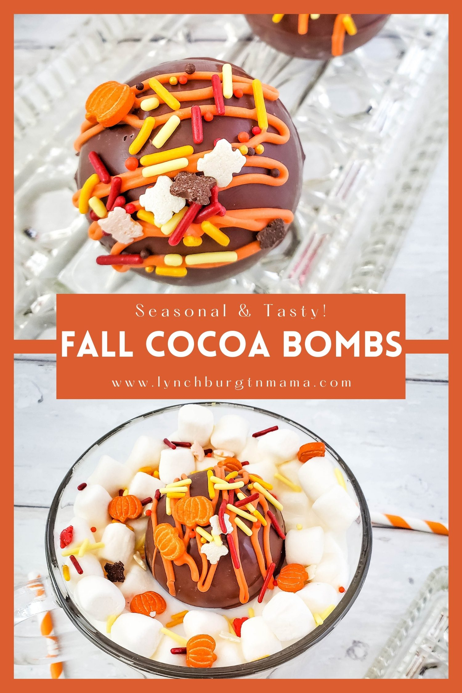 Fall Cocoa Bombs are exactly what a cup of warm milk needs to sit and enjoy the leaves falling, a night by the fireplace, while enjoying Hallmark movies, and well, anytime this season. Learn how easy it is to make hot cocoa bombs!