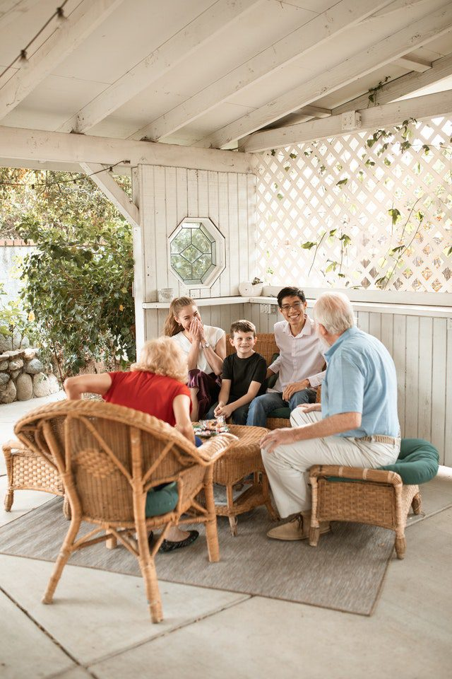 Family enjoying time outside together thanks to good family health